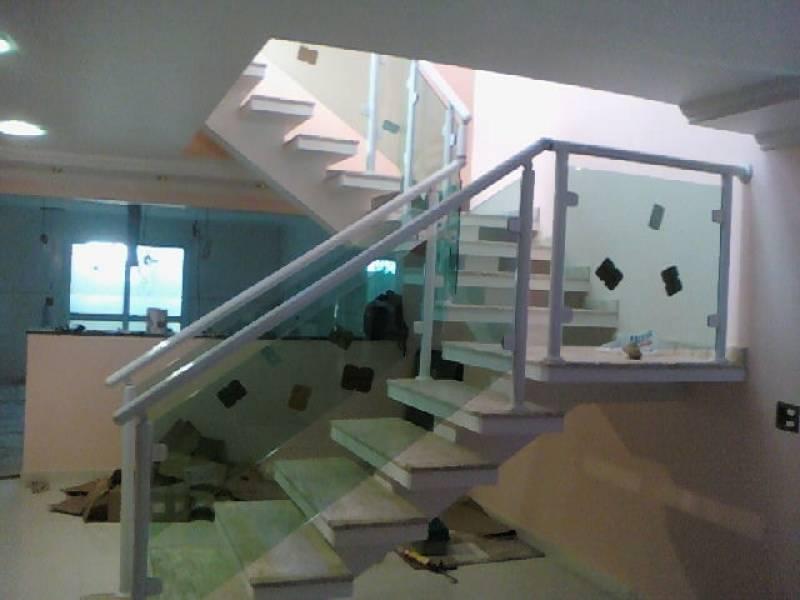 Populares Corrimão de Vidro em Escada Interna - Box em Vidro NP93